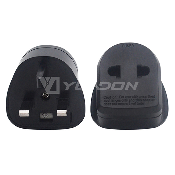 Yuadon EU to UK travel adapter EU/US to UK power plug adaptor with fuse BS8546 approved