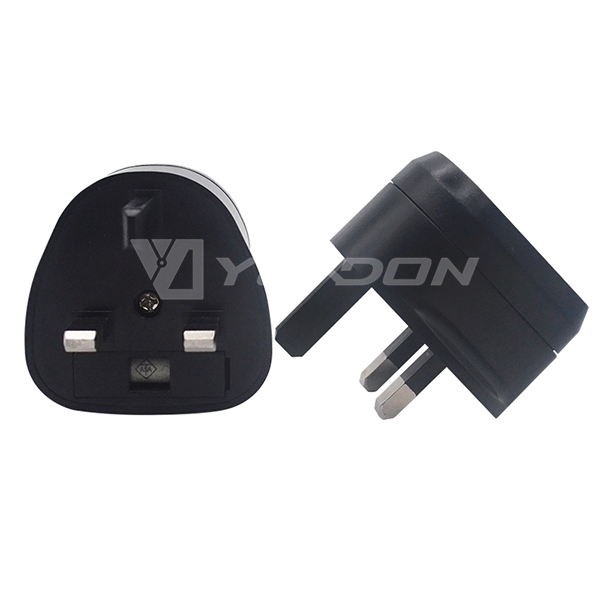 Yuadon EU to UK travel adapter EU/US to UK power plug adaptor with fuse BS1363 approved