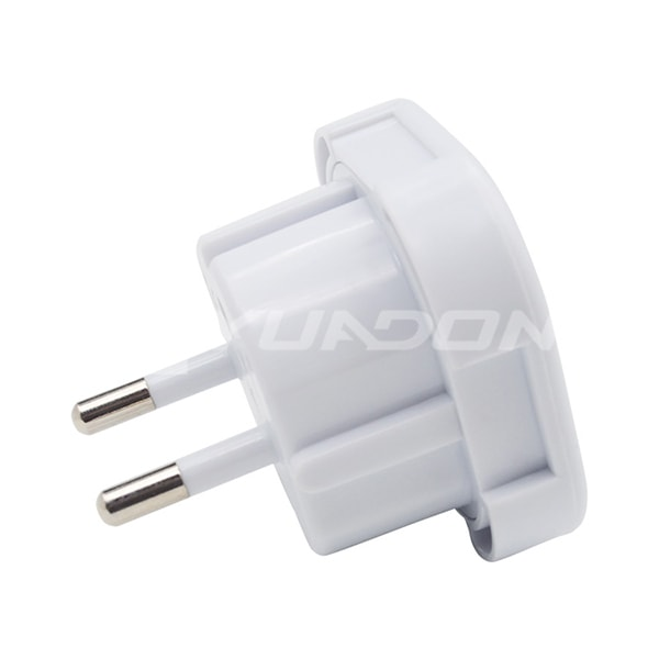 3 Pin to 2 Pin Plug Adaptor UK to Euro Power Plug UK Plug Adapter Producer