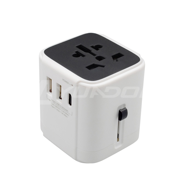 International BS8546 Travel Adapter Universal with Type C Fast Charge USB Port Christmas Gift Travel Kit