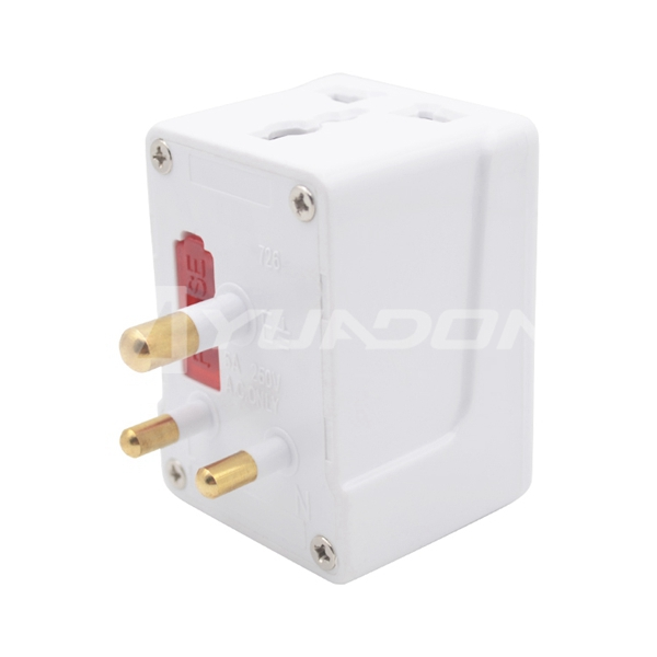 CE ROHS approval 5A india power adapter india 3 pin plug universal to India plug adapter with grounding