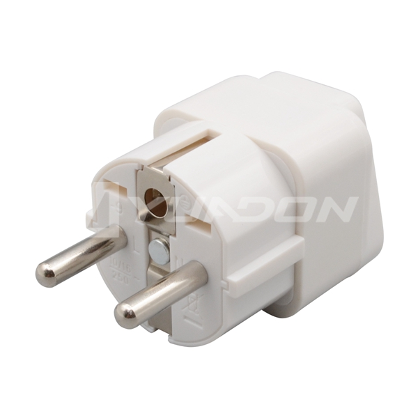 Type E French plug adapter Germany Schuko Plug Travel adapter
