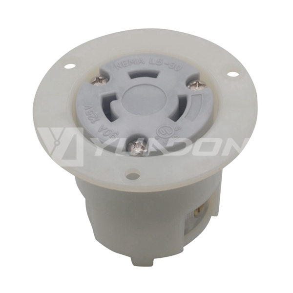 Locking Flanged outlet NEMA L5-30R