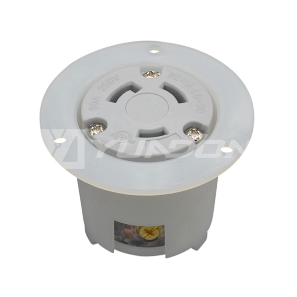 Locking Flanged Outlet NEMA L6-30R