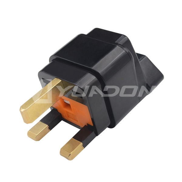 Brazil Waterproof Socket to UK Plug Adapter with Fuse