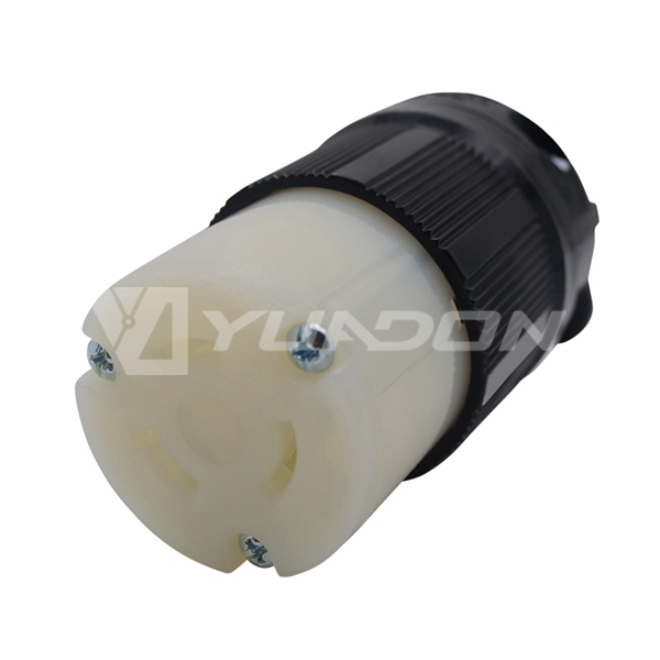 20a 480v 2 Pole 3 Wire Grounding L820C Connector NEMA L8-20C 20A Locking Cord Connector