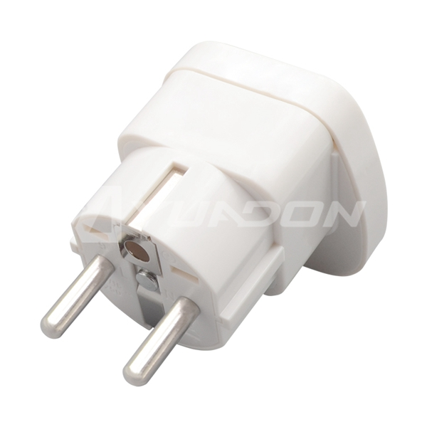 2 pin electric plug 16A Schuko germany plug adapter electrical plug converter with safety shutter