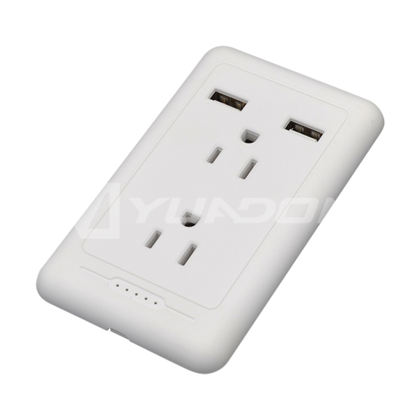 NEMA 5-15R Wall outlet receptacles with Dual USB Port 15A USA American electrical wall receptacle