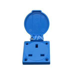 UK Waterproof Socket Outlet 13A Wall Socket IP54 Electrical Floor Outlet 02