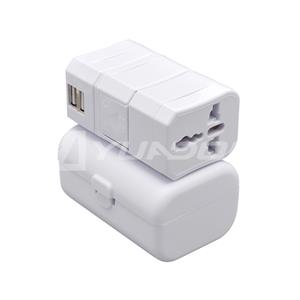 Worldwide Travel Adapter with Case UK / AUS / USA / EURO Power Plug Socket USB Charger