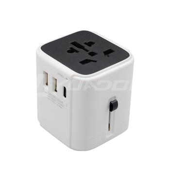 international travel adapter universal with type C fast charge USB port