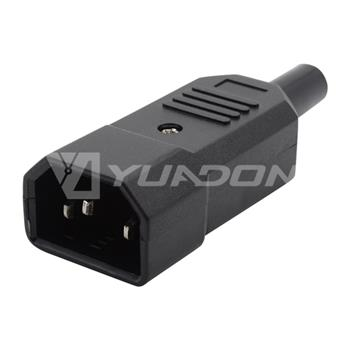 IEC 60320 C14 Male Straight Re-Wireable Plug with UL