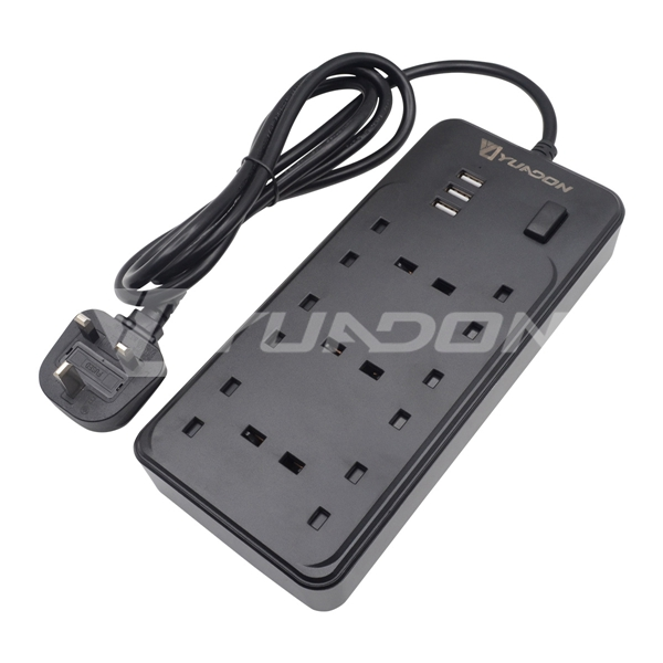 6-Way British outlet Power strip with usb port