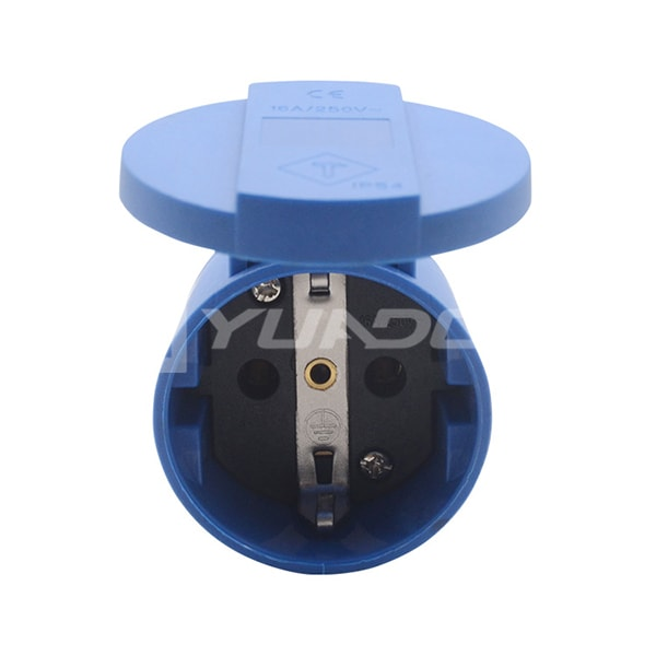 Germany Outlet Schuko Socket 16A / 250V Rubber Europe Plug Socket Type F Female Socket 03