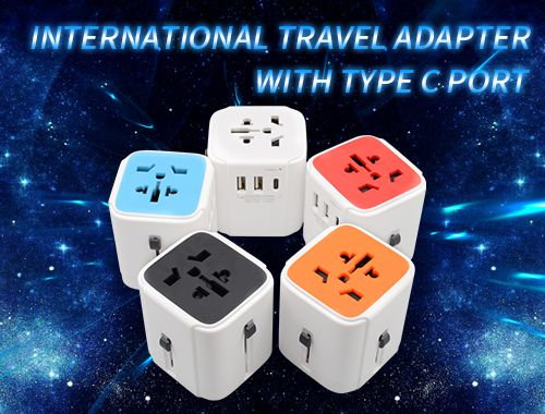 international travel adapter with type c